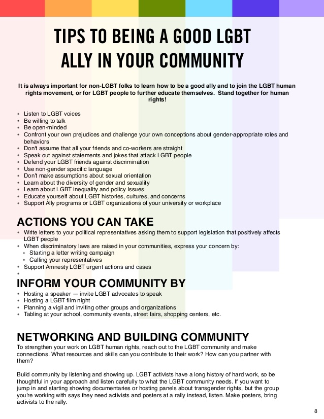 Image: Tips to being a good LGBT ally in your community
