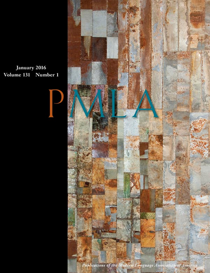 Cover of PMLA Journal