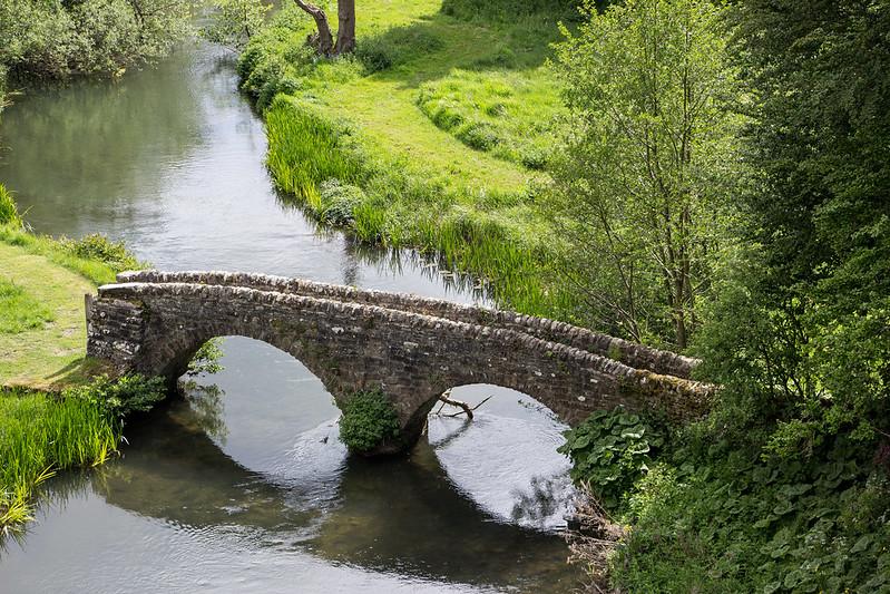 17th Century stone bridge crossing the River Wye in Derbyshire