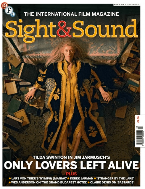 Cover art of magazine Sight and Sound (still from Only Lovers Left Alive)