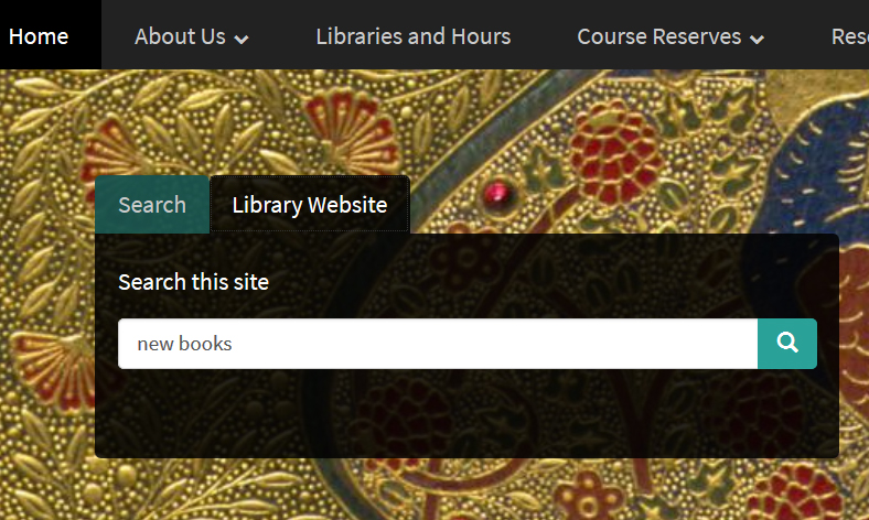 Cornell University Library homepage search box