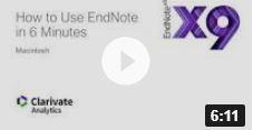 How to use Endote (Mac) 6 mins
