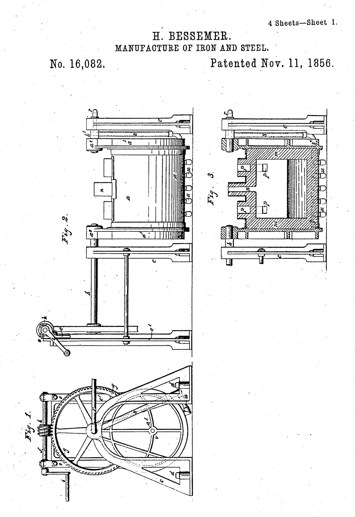 patent for steel and iron