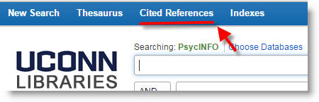 cited references link in databases