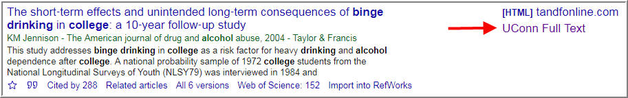 google scholar uconn full text link
