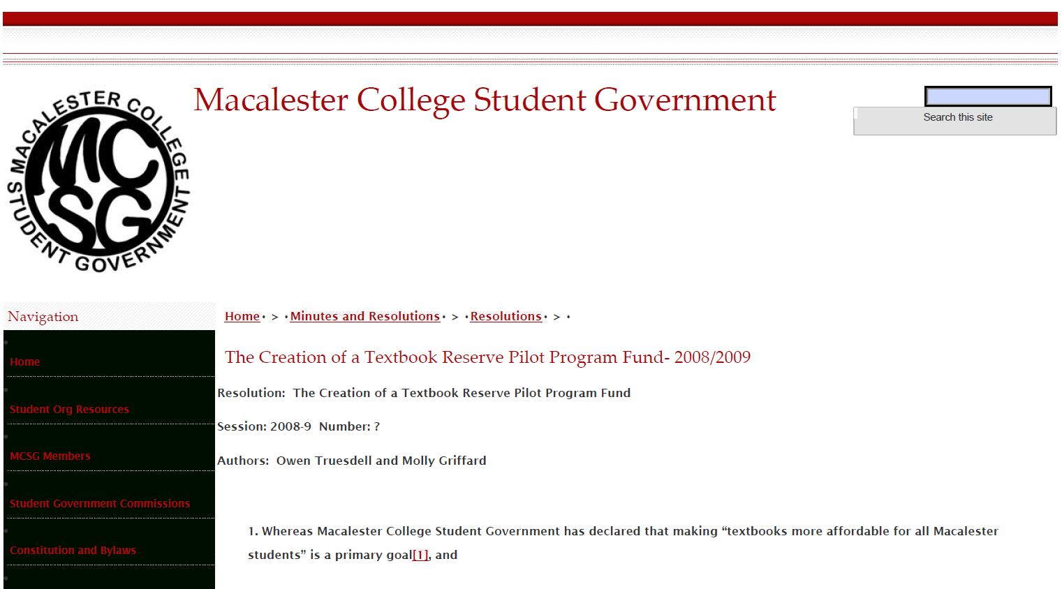 Creation of Textbook Reserve Pilot Program Fund