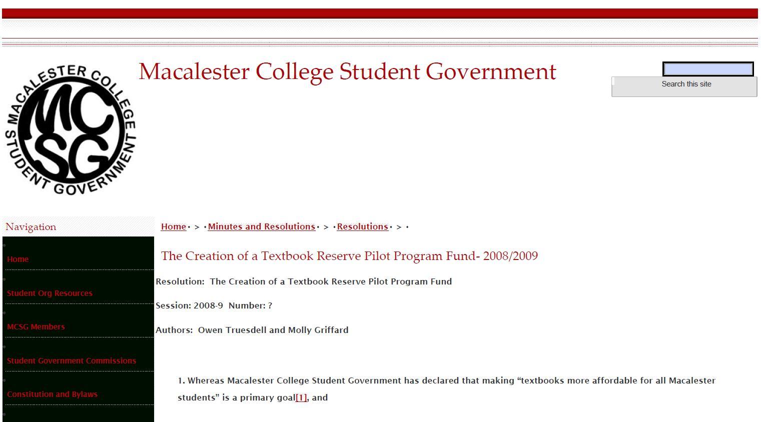 Creation of Textbook Reserve Pilot Program Fund