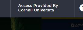 Logo of 'access provided by Cornell University' indicator