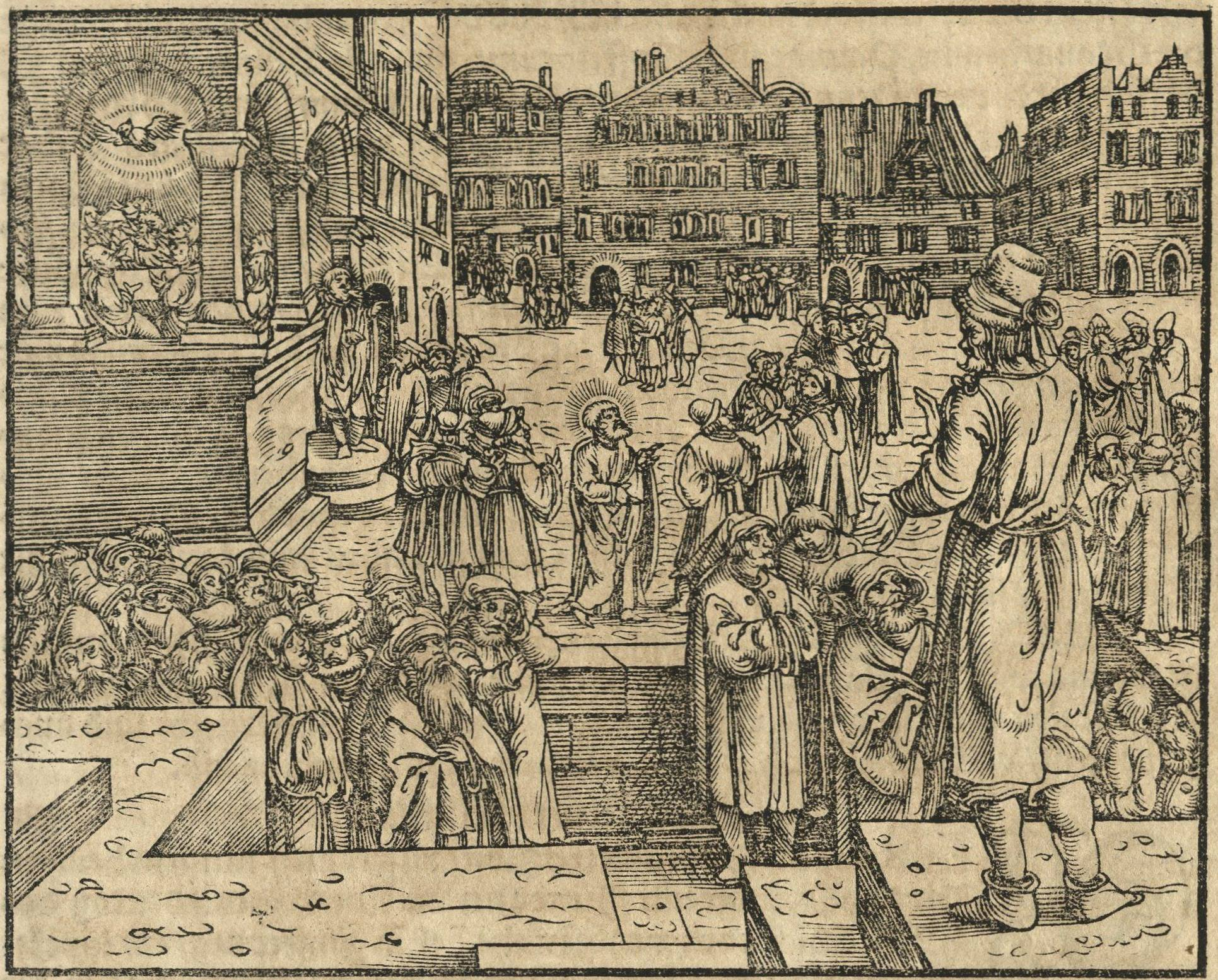 Illustration from the Prophet Joel in Luther's translation of the prophets