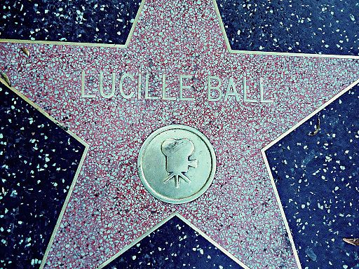 Lucille Ball's Star - Hollywood walk of Fame