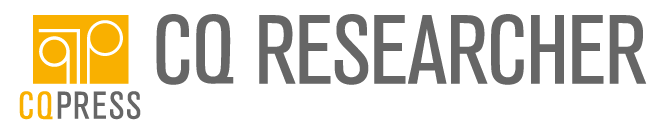 Image of CQ Researcher logo with yellow column and brown lettering