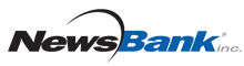 Image of NewsBank Logo with black and blue lettering
