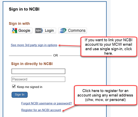 Sign in to NCBI