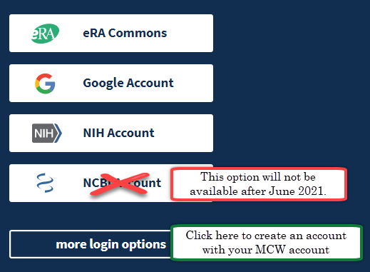NCBI Log in