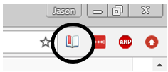 Screenshot of Save icon in Chrome/Windows