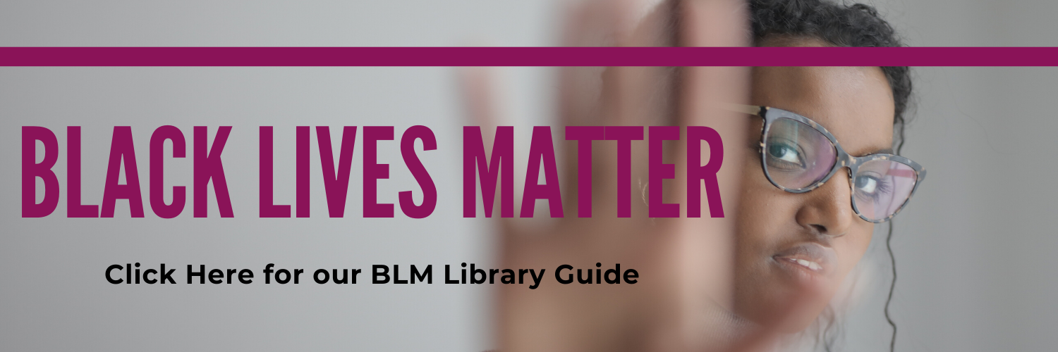banner linking to library page on Black Lives Matter