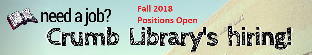 Crumb Library Employment banner