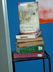 The book table in the display