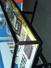 deep view into the display case