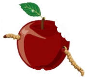 An unkind take on the Apple logo