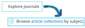 Explore subject collections in Biomedcentral