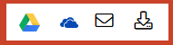 icons for emailing or saving an article