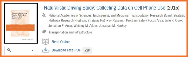 A book on cell phone use while driving