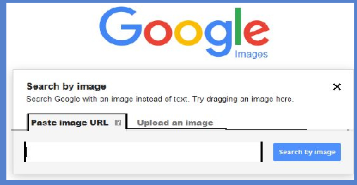 Google image search ready to search by URL