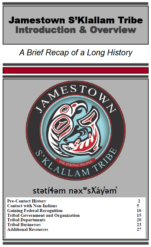 Jamestown S'Klallam Tribal History and Overview