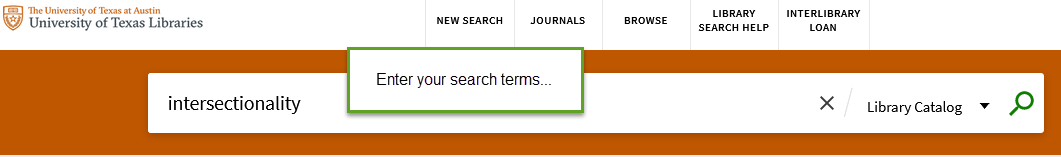 On the next screen, enter your search terms.