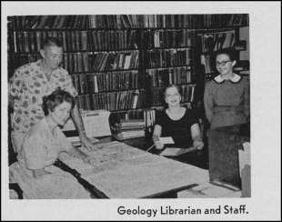 Geology Library staff, date unknown