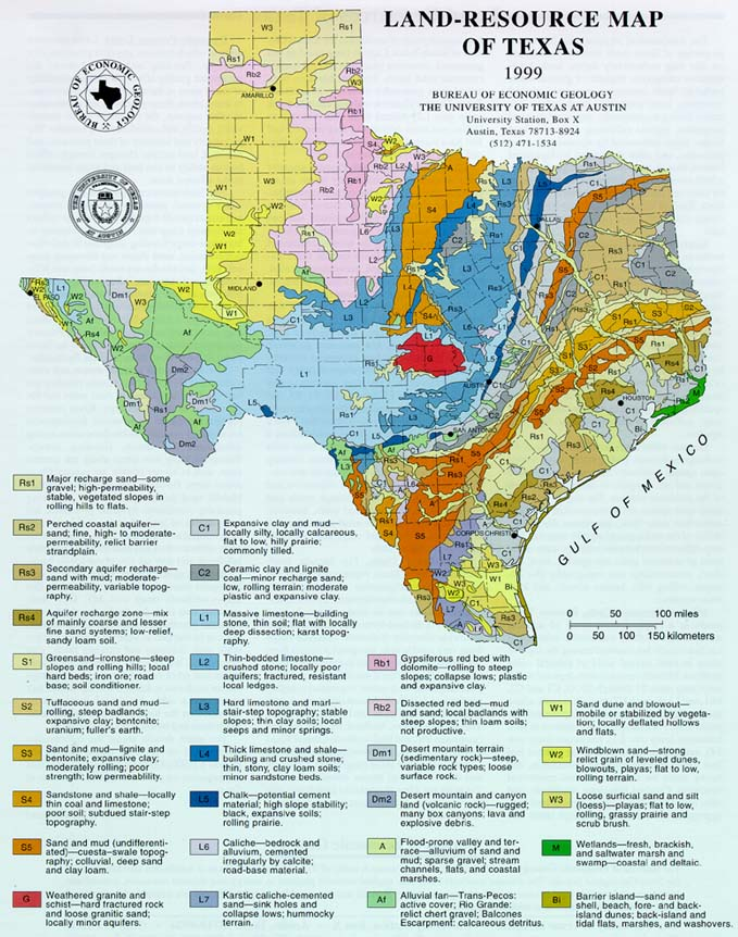 land resource map TX