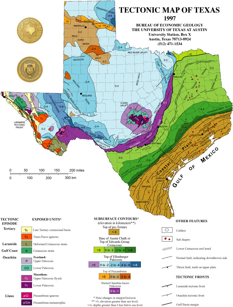 tectonic map of texas