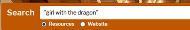 UT Libraries home page search box using quotes