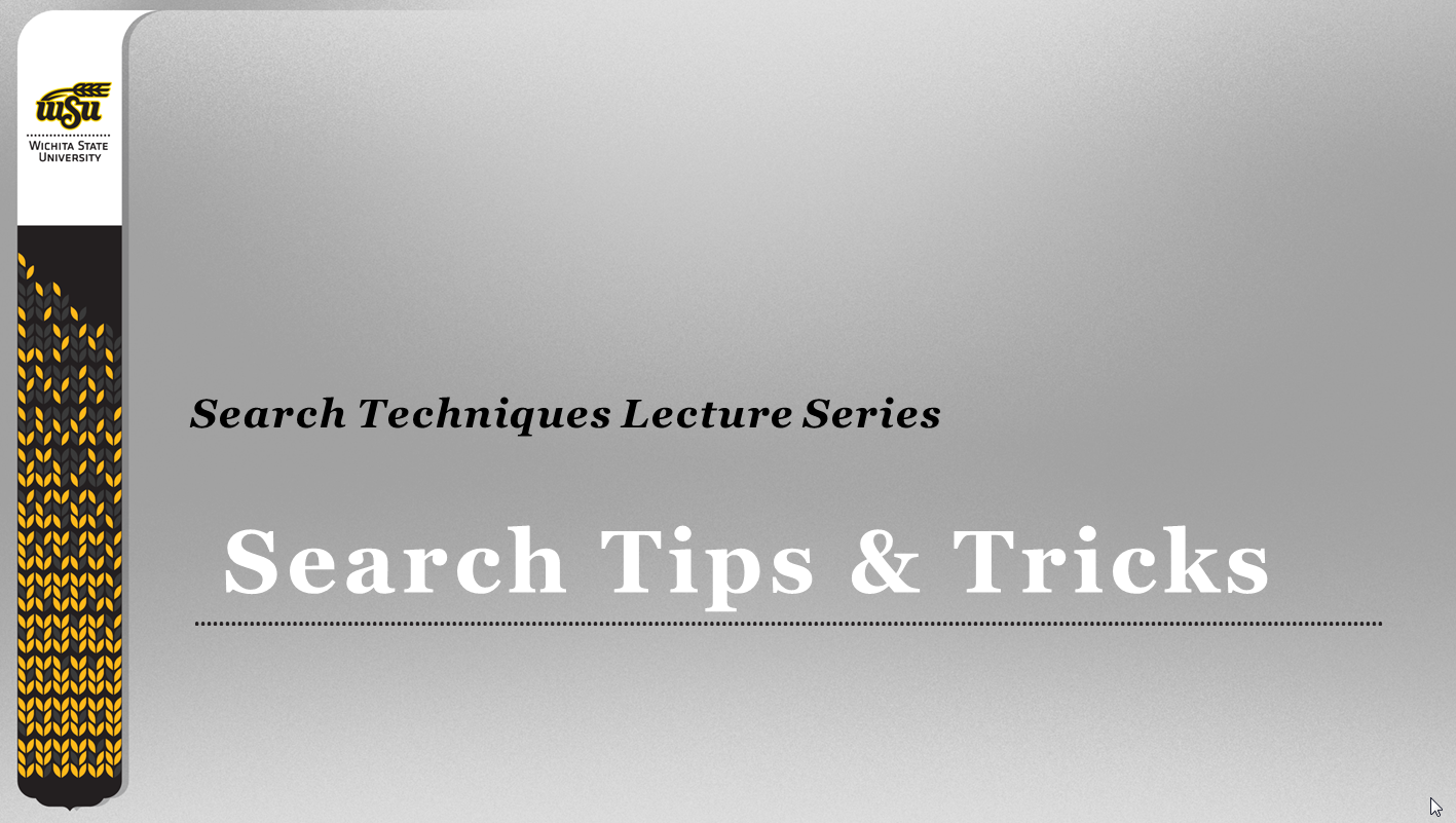 Search Tips Tutorial slide 1 screenshot