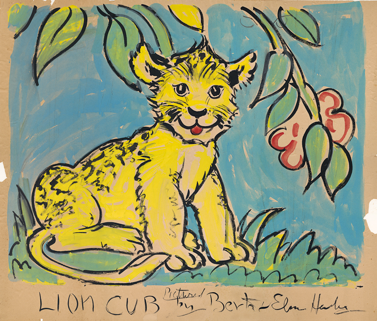 scanned image of Lion Cub by Berta and Elmer Hader