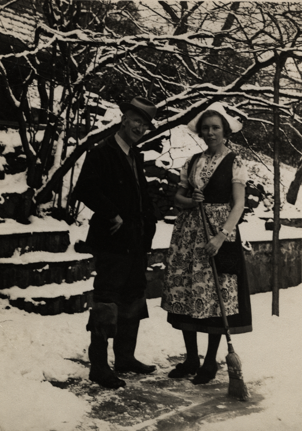 photograph of Haders in the snow