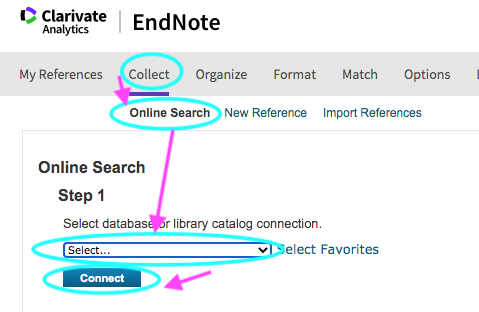 endnote basic collect online