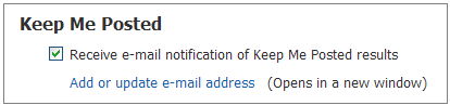 SciFinder e-mail notification