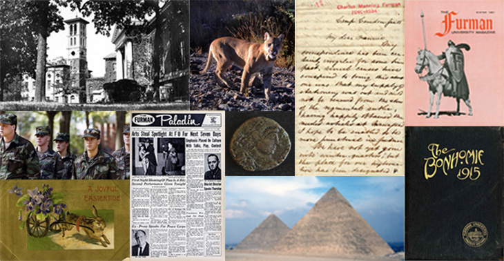 Collage of images from Digital Collections Center