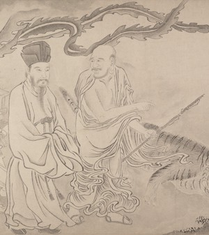 16 Luohans (detail), attributed to Qiu Ying, 16th c.