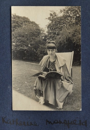 Katherine Mansfield, photograph by Lady Ottoline Morrell, 1916-17, National Portrait Gallery, London