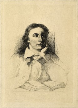 John Keats, reproduction of etching after W. Hilton, after J. Severn