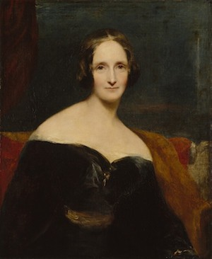 Portrait of Mary Shelley by Richard Rothwell, 1840 (exhibited)