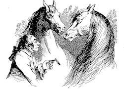 Illustration by J.-J. Grandville in a French translation of Gulliver's Travels (p. 333), via Gallica.