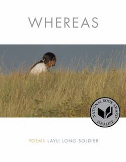 Cover of Layli Long Soldier's 2017 poetry collection Whereas