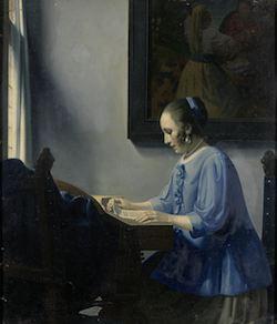Han van Meegern, Woman Reading Music, 1935-1940. Rijksmuseum, Amsterdam.
