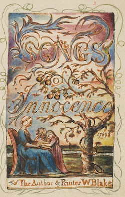William Blake, title page of Songs of Innocence, ca. 1825