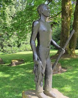 Alison Saar, York: Terra Incognita, 2010. Bronze. Lewis & Clark College