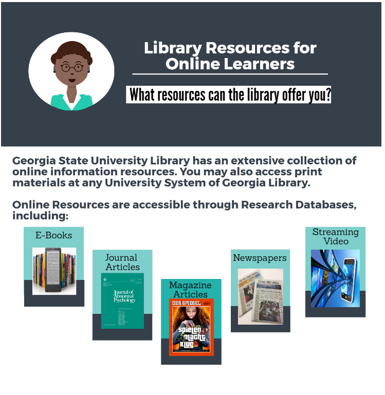 Infographic summarizing online resources described elsewhere in this guide.